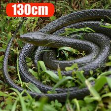 Gummischlange 1,3m Gummi Schlange Reptilien Kriechtier Tricky Spielzeug 1St.