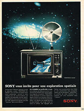 PUBLICITE ADVERTISING 035  1971  SONY  téléviseur TRINITON KV  exploration spati