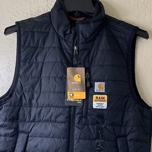Carhartt Men's Gilliam Vest Winter Insulated Quilted, Black - Multiple Sizes