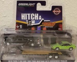 1/64 Greenlight 2019 Ford F-350 With Gooseneck & 1992 Mustang
