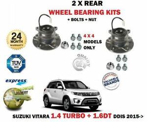 FOR SUZUKI VITARA 1.4 1.6TD DDIS 2015--> 2 X REAR WHEEL BEARING HUB KITS + BOLTS