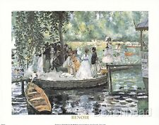 "10"" x 8"" Painting 'La Grenouillère' (1869) by Pierre-Auguste Renoir Art Print"