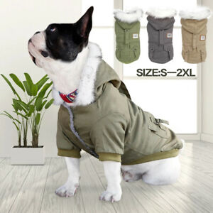 Winter Small Pet Dog Hoodie Down Jacket Puppy Warm Coat French Bulldog Apparel