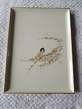 Vintage Otagiri Bird Lacquerware Large Tray Made in Japan