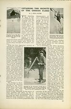1920 Magazine Article Study of American River Sacramento CA Snow Melting Water