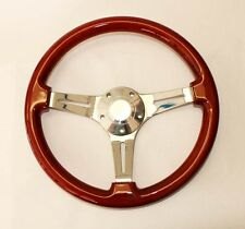1970 - 1977 Ford Mustang and Mustang II Wood Mahogany Steering Wheel 14""