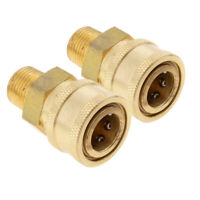 "2x Quick Coupler 3/8"" Male Socket Pressure Washer Gun Fitting Connect Hose"