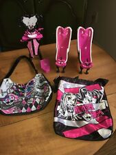 Monster High Bathroom Vanity & Claw foot Tubs By Mattel With Hand Bag & Pursue