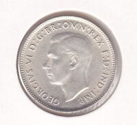 CB470) Australia 1946 Melbourne Shilling Uncirculated. Nice lustred coin