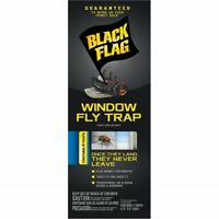 6 Pack Black Flag Window Fly Trap Catches All Flying Insects 4 Traps Each