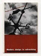 1940s Ladislav Sutnar MODERN DESIGN IN ADVERTISING Fresh Wind Blowing RARE promo