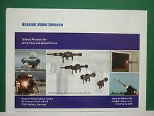 10/2008 PUB DYNAMIT NOBEL DEFENCE BURBACH MISSILE ANTI CHAR ARMY ORIGINAL AD