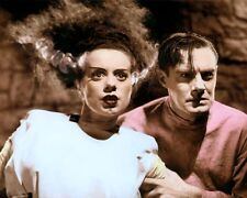 "ELSA LANCHESTER COLIN CLIVE BRIDE OF FRANKENSTEIN 8x10"" HAND COLOR TINTED PHOTO"