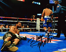 Manny Pacquiao HAND SIGNED 4 Weight Boxing Champ 10x8 Photo AFTAL Autograph COA