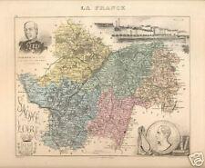 Carte du Dpt. de la SAONE et LOIRE ; 1881