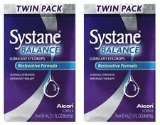 2 Pack- Systane Balance Eye Drops Twin Pack - 2x2 10mL Bottles (4 Total)