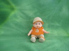"""Berenguer 5"""" Look Alike Baby Doll + Custom Crafted Crochet Clothes * Lovewraps"""