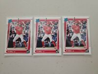 Jo Adell 2021 Donruss Baseball Rated Rookie Lot (3) #33 L.A. Angels RC