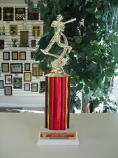 Little League Baseball Trophy or school award. Team/school color on plate 12""
