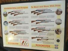 Vintage Winchester rifle and shotgun ad from the 50s framed