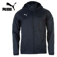 MENS PUMA LIGHTWEIGHT RAIN JACKET LONG SLEEVED ZIP FASTENING COAT TOP WINDCELL