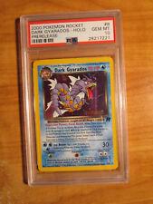 PSA-10 Pokemon PRERELEASE Holo DARK GYARADOS Card TEAM ROCKET Set 8/82 Rare