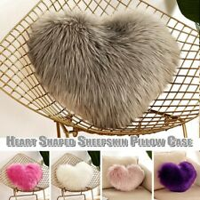 Heart Shaped Throw PillowCushion Plush Pillow Gift Home Sofa Decor PillowCover n