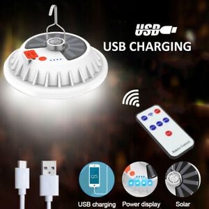 Solar Powered 120 LED String Light Garden Yard Lamp USB Charging Outdoor Lantern