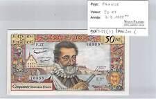 BILLET 50 Nouveaux Francs HENRI IV   3-9-1959**