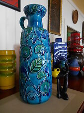 Retro 1960's fat lava vase, vintage Bay West German Bitossi Roth Bodo MCM era