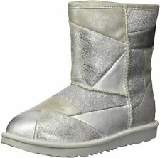 NIB UGG CLASSIC GLITTER PATCHWORK SHORT BOOTS Kids Toddler Size 6 AUTHENTIC