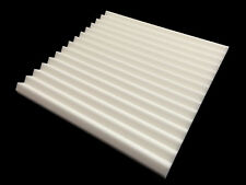Advanced Acoustics Mel-Acoustic Wedge 40mm White Melamine Foam Panel Pack of 10