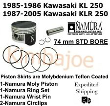 Bore Size : 73.95 1987-2005 Kawasaki KLR250 Dirt Bike Engine Piston Kit mm Stock