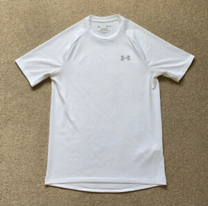 Under Armour White Dri Fit Running Gym Top Size Small