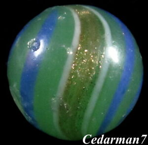 """Cedarman7; Beautiful Vintage Played With 25/32"""" German Lutz Shooter Marble! toy"""