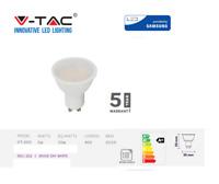 LED Spotlight SAMSUNG Chip GU10 5W Smooth Plastic 400Lm 110° 4000K by V-TAC