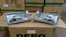 Toyota Corolla AE101/102 1994 - 1998 Glass Headlight Pair ADR APPROVED BRAND NEW