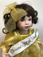 "9� Marie Osmond Limited Doll ""Osmond's 50th Anniversary� Gold Dress No Box"