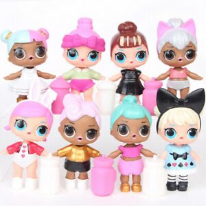 8 Pcs / Set L.O.L Surprise Ball Lil Sisters LOL Dolls Pets Toys Kids Child Gifts