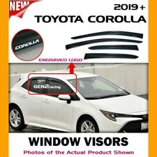 WINDOW VISORS for 19 20 21 Toyota Corolla Hatchback / DEFLECTOR RAIN GUARD VENT