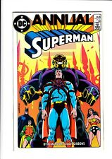 "SUPERMAN 1985 ANNUAL #11 (1ST ""BLACK MERCY"") (VF+  8.5) - DC COMICS"