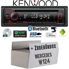 Kenwood Autoradio für Mercedes W124 Bluetooth Spotify CD/MP3/USB Einbauzubehör
