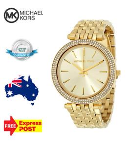 NEW MICHAEL KORS DARCI MK3191 ALL GOLD/CRYSTAL WOMENS LADIES QUARTZ WATCH