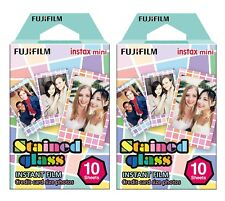 Fujifilm Instax Mini Stained Glass Color Film 10 Sheets Lot of 2