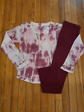NWT Girls Justice Thermal Tye Dye Top/Leggings Size 14