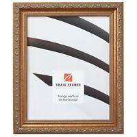 "Craig Frames 1.25"" Wide Distressed Aged Gold Picture Frames & Poster Frames"