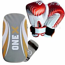 Kids Pad MMA  Shiled Kick Boxing Kick Gloves Hook & Jab Mitt Mico Hide Leather