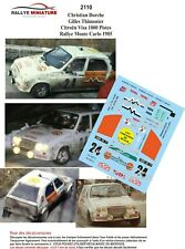 DECALS 1/43 REF 2110 Citroën Visa 1000 Pistes Dorche Rallye Monte Carlo 1985