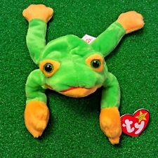 New listing Mwmt 1997 Smoochy The Frog Ty Beanie Baby Retired Reptile Plush Toy Ships Free