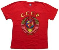 USSR CCCP Coat of Arms High Quality New Russian T-Shirt TShirt